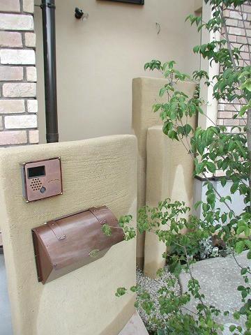 郵便受けポスト 銅製ポスト1型 施工例1