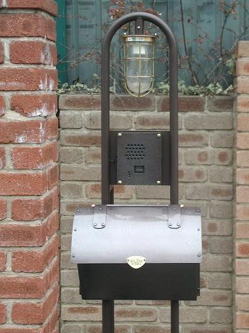 銅製ポスト1型セット例1 郵便受けポスト