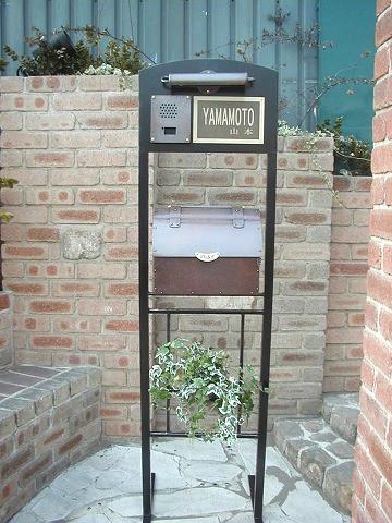 銅製ポスト2型セット例6 郵便受けポスト