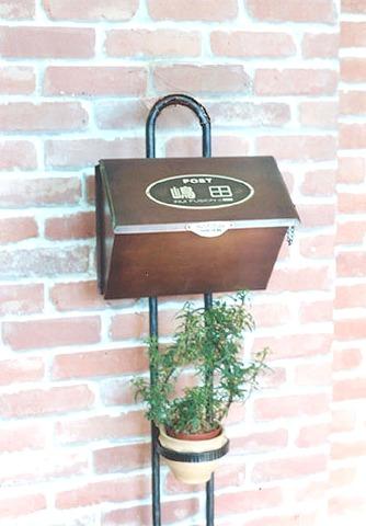 銅製ポスト7型機能門柱(1) 郵便受けポスト