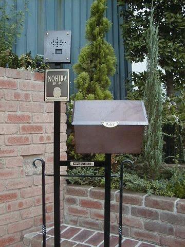 銅製ポスト7型機能門柱(3) 郵便受けポスト