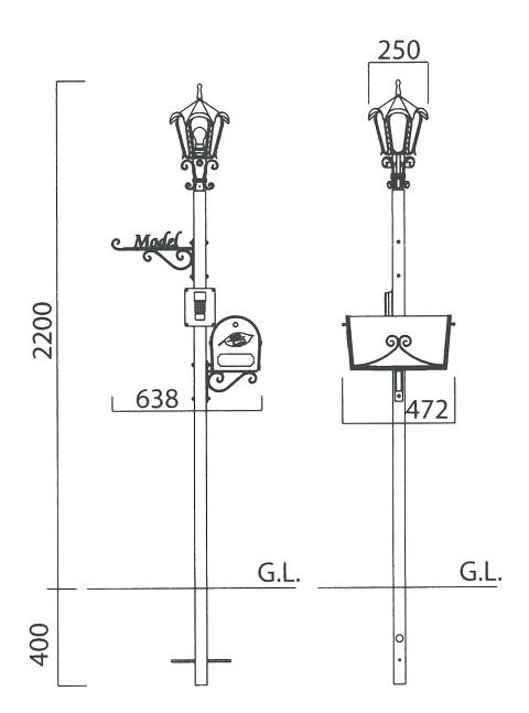 ユーリス機能門柱 図面