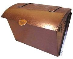 カラー濃目サンプル 銅製ポスト 郵便受けポスト