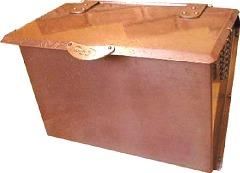 カラー淡目サンプル 銅製ポスト 郵便受けポスト