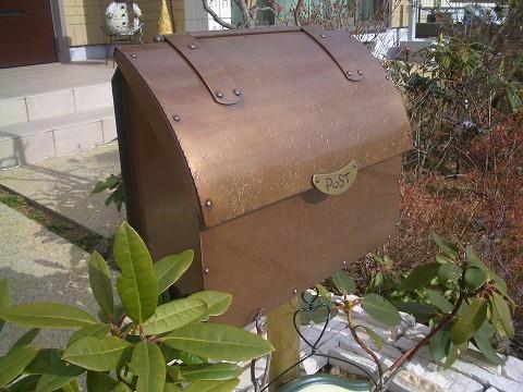 郵便受けポスト 銅製ポスト2型 施工例1