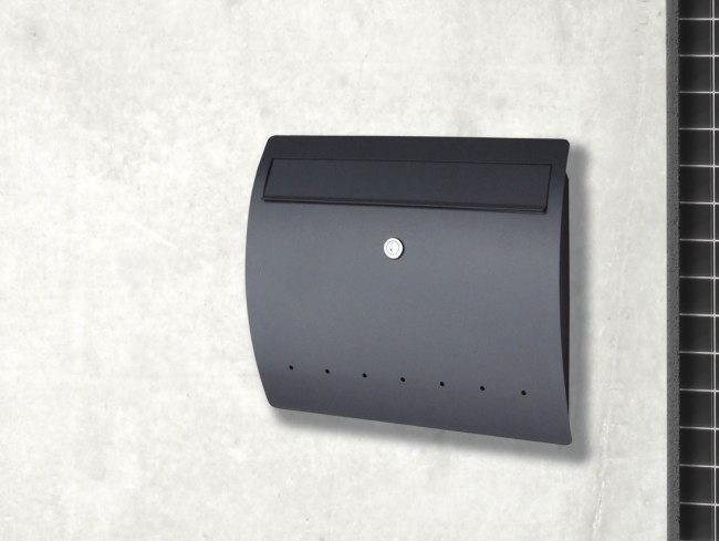 モダン郵便受けポスト ライン 壁掛け式 鍵付 ドイツserafini製