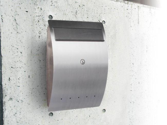 モダン郵便受けポスト エルベ 壁掛け式 鍵付 ドイツserafini製