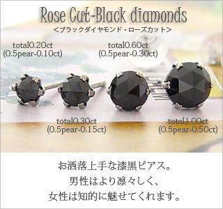 4ce9bd27a auc-eternal: One diamond pierced earrings Rose cut black diamond 1ct ...