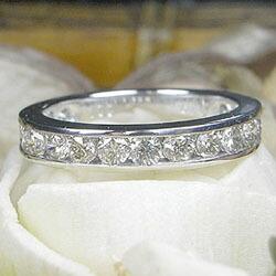 プラチナ900 ダイヤモンド1.0ct エタニティ リング(指輪)
