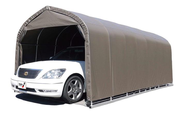 パイプ車庫 セダン用埋込み式 幅3.0m×奥行5.6m×高さ2.4m SB色