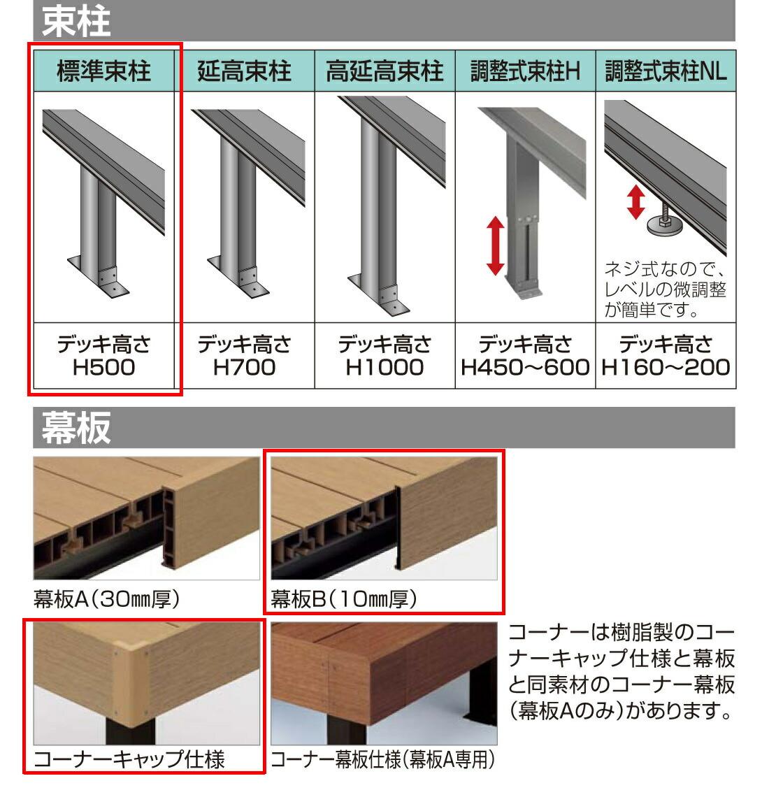 束柱、幕板