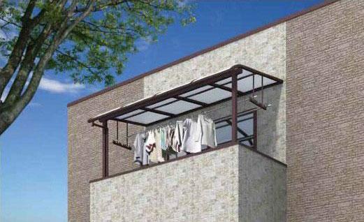2階バルコニー用 柱が前後左右に移動可能な移動桁仕様「オリジナルテラス」