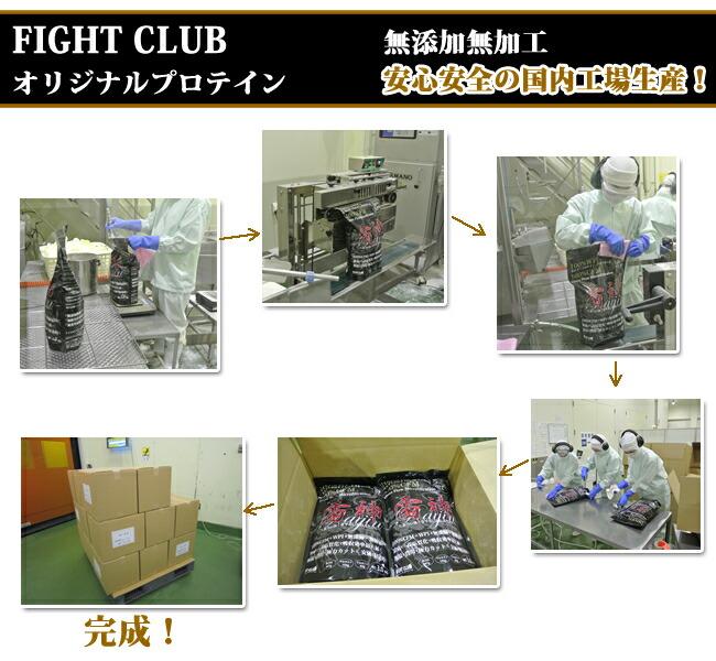 FIGHT CLUB<br>オリジナルプロテインシリーズの製造について