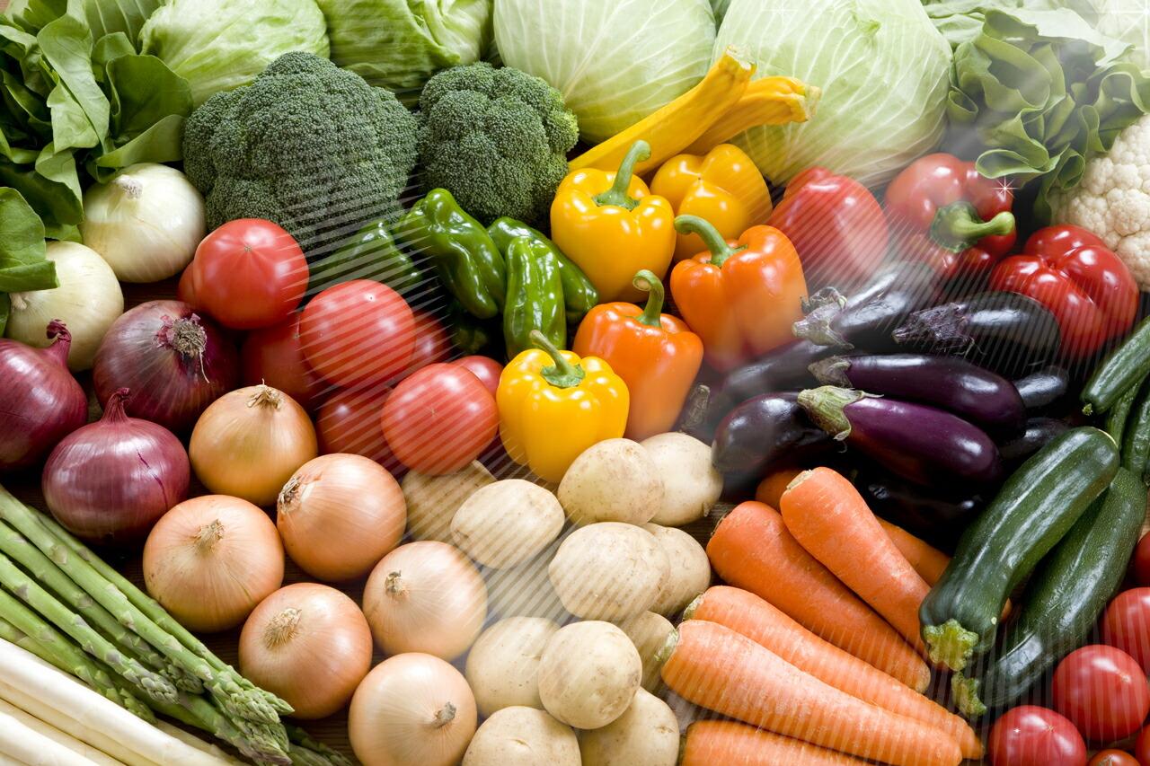 キラキラ新鮮な野菜