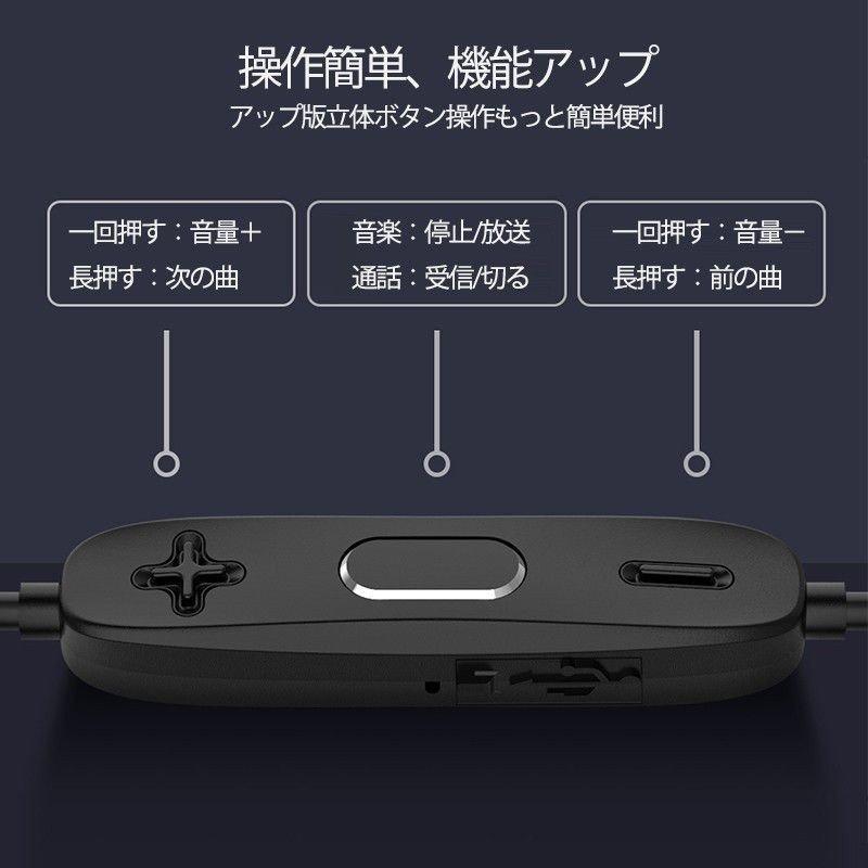 「Zagzog」イヤホンカナル型高音質密閉型リモコン付き防水リモコン・マイク付き重低音音漏れ防止外音遮断鼓膜の負担疲労軽  <br> <br> <div style=