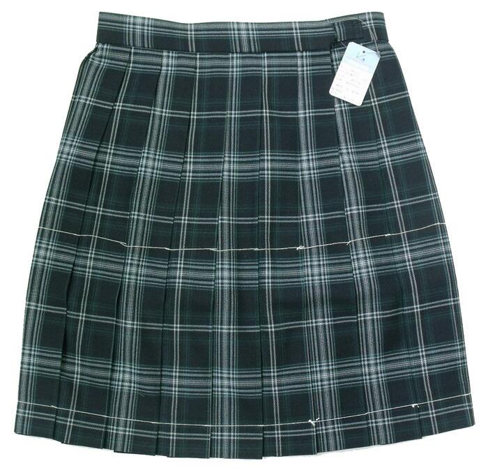 制服スカート【KR-372】丈42・W60~72(KURI-ORIクリオリNO1グリーンチェック)