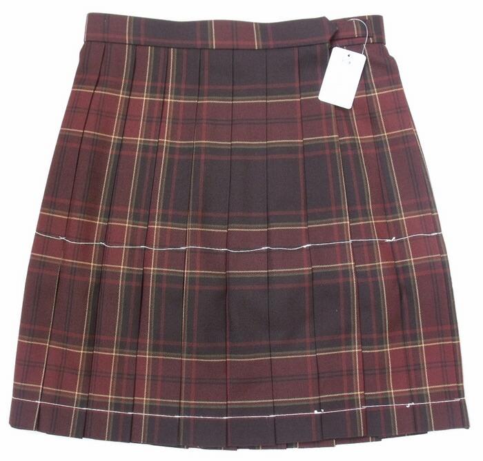 制服スカート【KR-373】丈42・W60~72(KURI-ORIクリオリ/ブラウンチェック)