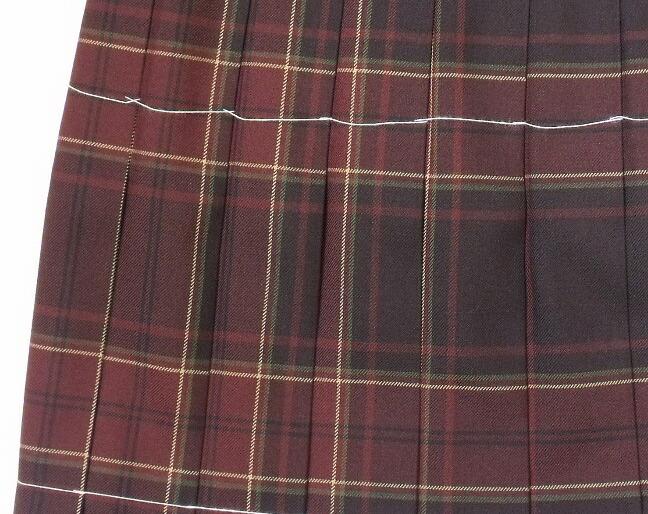 制服スカート【KR-373】丈42・W60~72(KURI-ORIクリオリ/ブラウンチェック))