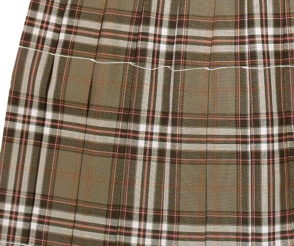 制服サマースカート【大きいサイズ】【送料無料】【SKR201】W75~85(KURI-ORIクリオリ ブラウンピンクチェック 丈48