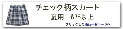 チェック柄スカート(夏用・W75以上)