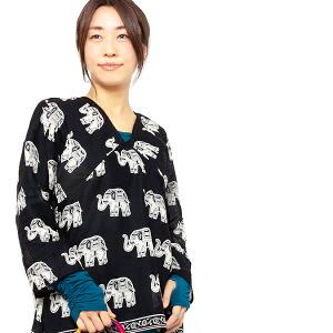 エスニック ブラウス シャツ ゾウ レディース インド エスニック ファッション アジアン ファッション プルオーバー Vネック