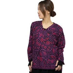 エスニック ブラウス シャツ レディース インド エスニック ファッション アジアン ファッション プルオーバー Vネック