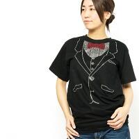 ラインストーンタキシードTシャツ