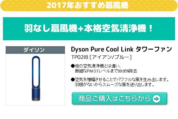 2017年おすすめ機能!Dyson Pure Cool Link タワーファン  TP02IB [アイアン/ブルー]