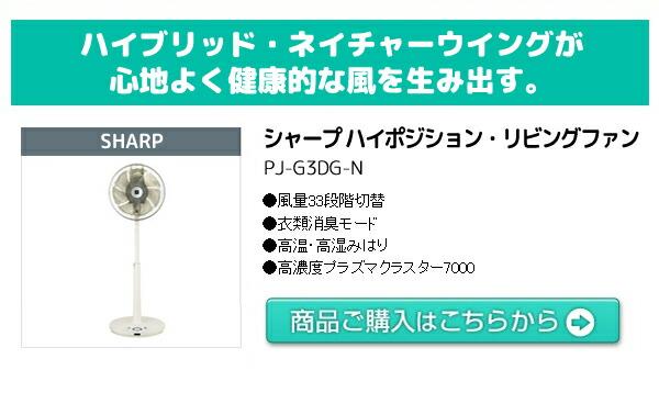 シャープ ハイポジション・リビングファン PJ-G3DG-N