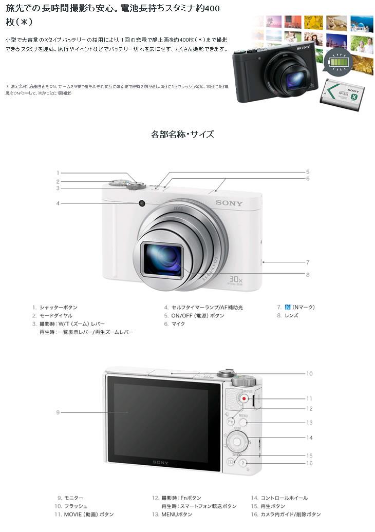 SONY - SONY Cyber-shot DSC-WX350 ホワイトの通販 by ドルフィン|ソニー