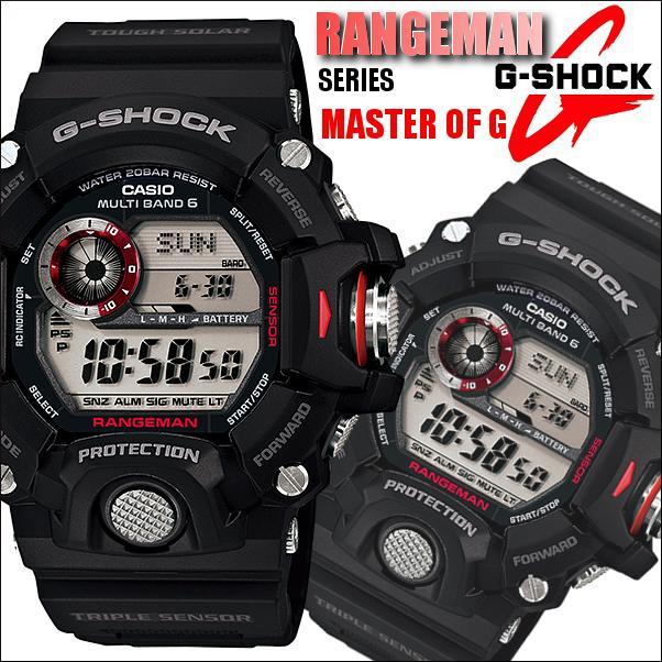 c47caef3e0 【楽ギフ_包装】 【送料無料】 メンズ Gショック 電波 GW-9400-1 レンジマン ソーラー CASIO カシオ 腕時計