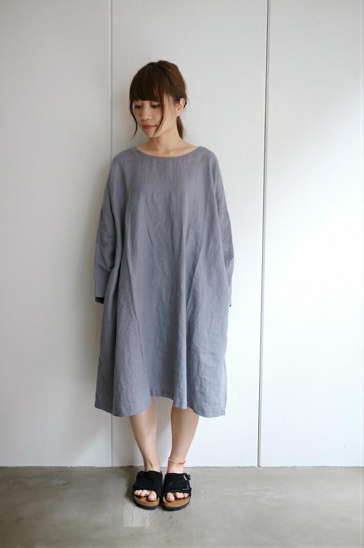 not perfect linen oversized loose fitting linen dress dark grey hafen. Black Bedroom Furniture Sets. Home Design Ideas