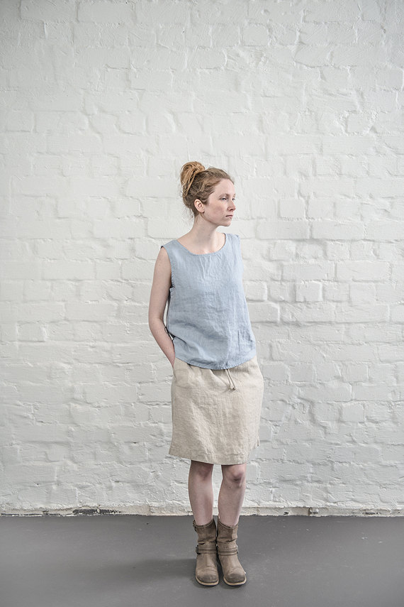 not perfect linen linen skirt natural uk8 s hafen. Black Bedroom Furniture Sets. Home Design Ideas