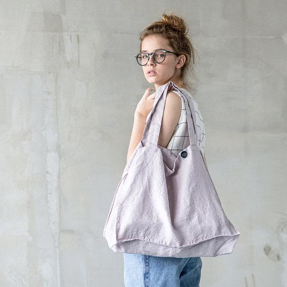 1 not perfect linen large linen tote bag. Black Bedroom Furniture Sets. Home Design Ideas