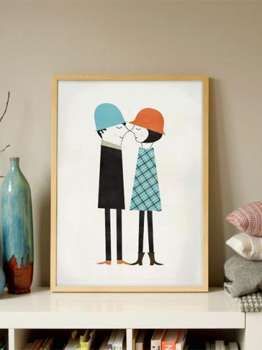 human empire couple poster 50x70cm hafen. Black Bedroom Furniture Sets. Home Design Ideas