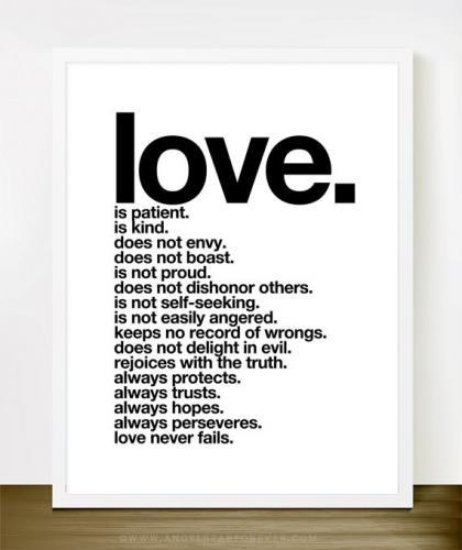 Love Is Patient Love Is Kind Quote: Rakuten Global Market: THE LOVE SHOP
