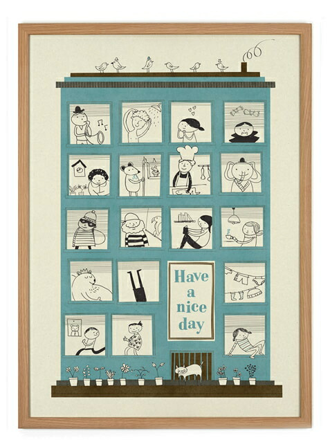 human empire have a nice day poster 50x70cm. Black Bedroom Furniture Sets. Home Design Ideas