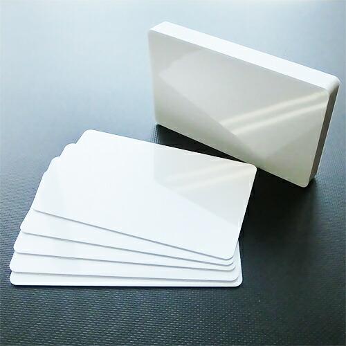 白生カード (100枚) PVC素材白カード