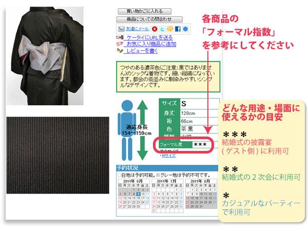着物のフォーマル度