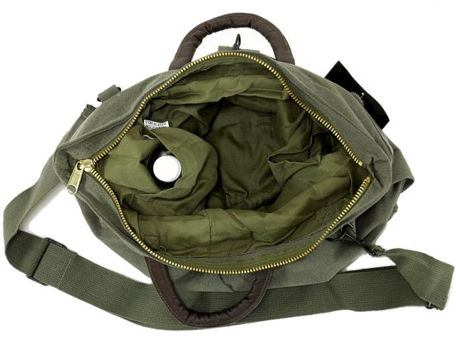 This product is a reproduces the United States Air Force helmet bag in  cotton canvas and leather hand vintage helmet bag. 3e2060f54c551