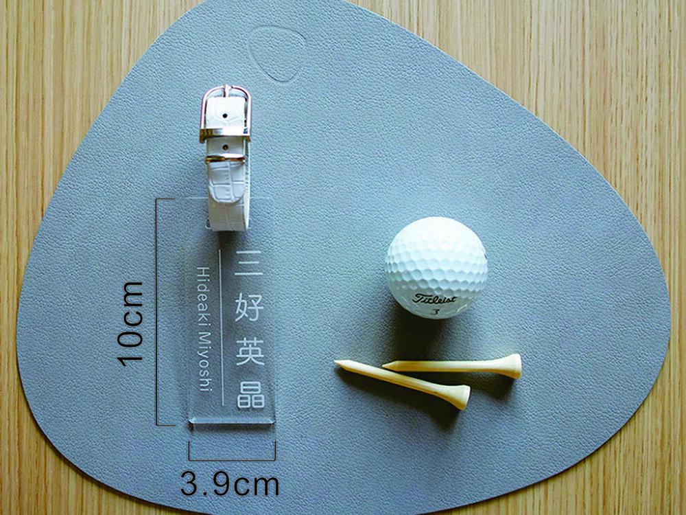ゴルフ ネームプレート/スクエアタイプ/クリア
