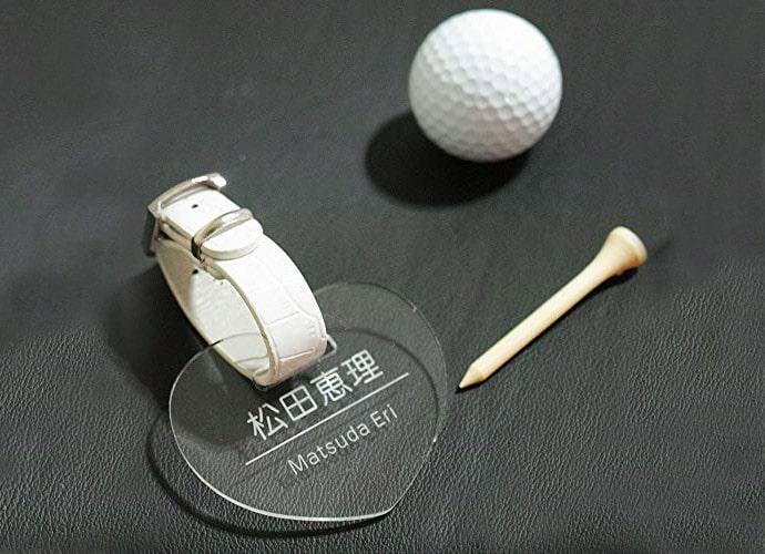 【999円】ハート ゴルフ ネームプレート クリア