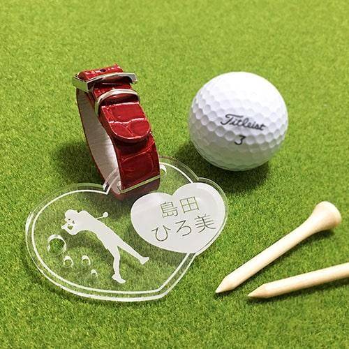 ゴルファーに必携、贈り物に最適!高級感溢れるクリアアクリルのオリジナルキャディバッグ用ネームタグ。