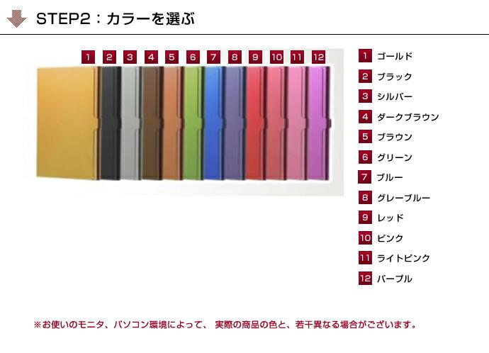 STEP2:ベルトカラーを選ぶ/12種類