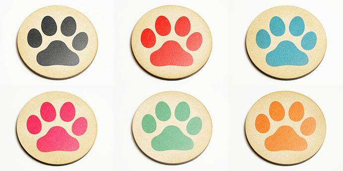 肉球コースター 犬・猫