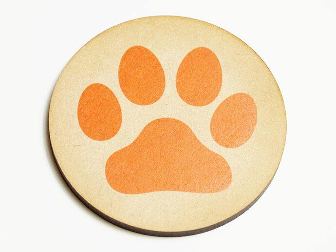 肉球コースター 犬・猫イメージ