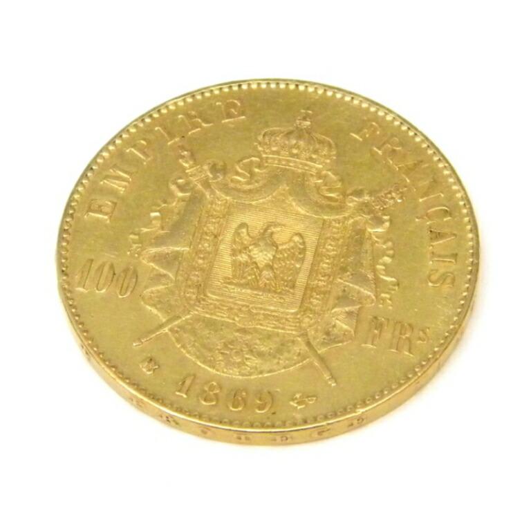 ナポレオン3世 月桂冠 100フラン金貨 1869年 有冠