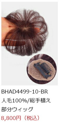 人毛の部分ウイッグ商品画像4