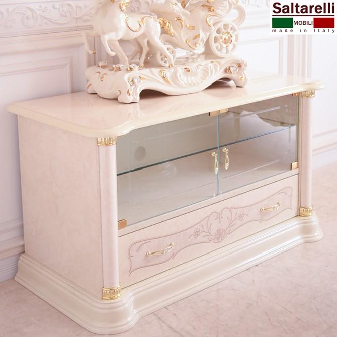 サルタレッリ 新フローレンスII イタリア家具 プラズマTVラック スモール ホワイト モダン 白