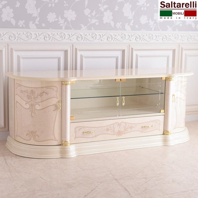 サルタレッリ 新フローレンスII イタリア家具 プラズマTVラック ホワイト モダン 白